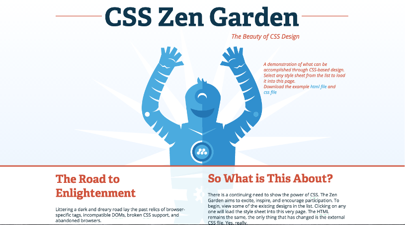 CSS Zen Garden. Design: A Robot Named Jimmy