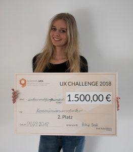 Nadine Schweiger gewinnt den 2. Preis bei der German UPA